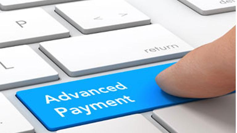 Advance payment promo